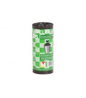Rollo Basura 25 Usos 52x60 Negro Papelera C/banderola - Unidad Venta: Caja 50 ro