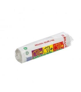 Rollo Basura 25 Usos 52x60 Blanca Ref.n/e - Unidad Venta: Caja 50 rollos - Palet