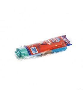 Bolsas de Basura Cierre Fácil 55 x 55 cm. Caja de 50 rollos de 15 uds x rollo. Azules