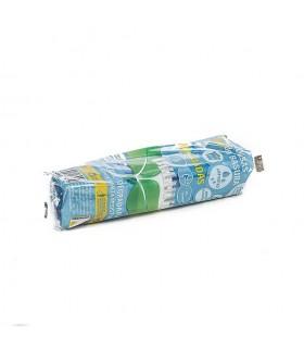 "Rollo basura 15 Usos 55x55 B.D. Azul metalizada perfumada y degradable C/facil """