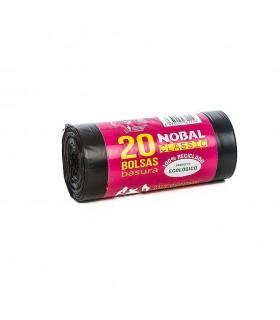 Rollo basura 20 Usos 55x60 Gris c/facil NOBAL CLASSIC con banderola - Unidad Ven