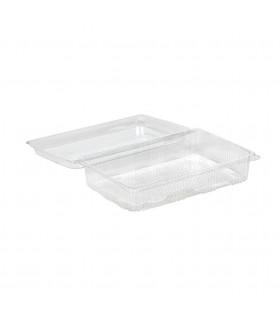 Envase para pastas transparente hermético. Grande. 250x160x60 mm. Caja de 220 uds.