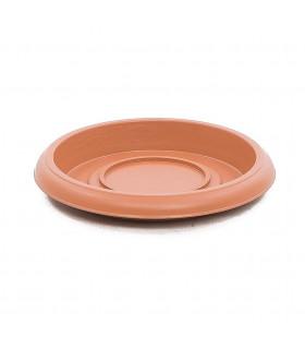Platos para macetas redondas de 16 cm. de diámetro. Terracota. 24 platos