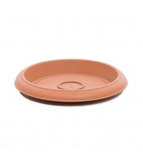 Platos para macetas redondas de 18 cm. de diámetro. Terracota. 24 platos