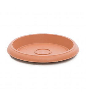 Platos para macetas redondas de 20 cm. de diámetro. Terracota. 24 platos