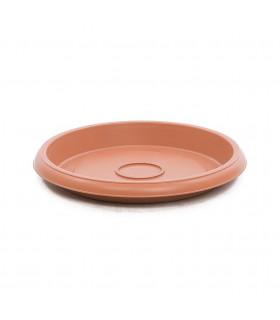 Platos para macetas redondas de 23 cm. de diámetro. Terracota. 12 platos