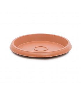 Platos para macetas redondas de 26 cm. de diámetro. Terracota. 12 platos