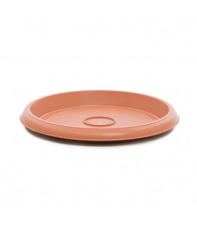 Platos para macetas redondas de 42 cm. de diámetro. Terracota. 12 platos