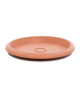 Platos para macetas redondas de 55 cm. de diámetro. Terracota. 6 platos