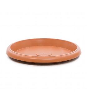 Platos para macetas redondas de 65 cm. de diámetro. Terracota. 6 platos