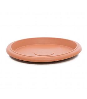 Platos para macetas redondas de 70 cm. de diámetro. Terracota. 6 platos