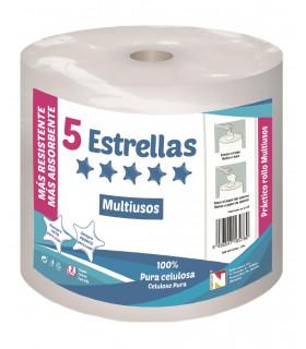 """Rollo de papel multiusos """"5 Estrellas"""" . Fardo de 6 rollos."""