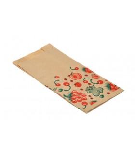 """Bolsas de papel kraft  """"Frutas"""" 1 Kg. 14+7x29 cm. Caja de 1.000 uds."""