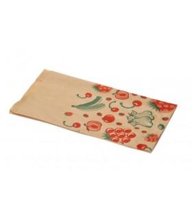 """Bolsas de papel kraft  """"Frutas"""" 2 Kg. 18+8x33 cm. Caja de 1.000 uds."""