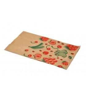 """Bolsas de papel kraft """"Frutas"""" 3 Kg. 23+6x39 cm. Caja de 1.000 uds."""
