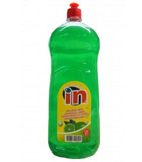 """Lavavajullas con aroma a limón verde """"IN"""" 1,5 L. Caja de 8 botellas."""