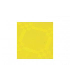 Rollo de mantel de papel damascado IMPERMEABLE de 1,2x5 metros. Amarillo. Caja de 35 rollos.