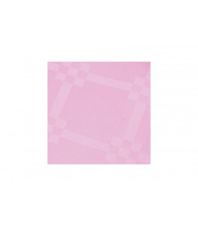 Rollo de mantel de papel damascado IMPERMEABLE de 1,2x5 metros. Rosa. Caja de 35 rollos.