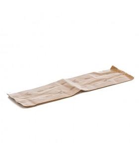 Bolsas de papel kraft para 4 baguettes. 18+8x51 cm. Caja de 1.000 uds.