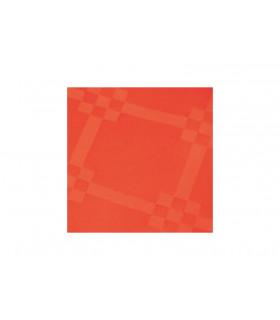 Rollo de mantel de papel damascado IMPERMEABLE de 1,2x5 metros. Rojo. Caja de 35 rollos.