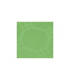 Rollo de mantel de papel damascado IMPERMEABLE de 1,2x5 metros. Verde Manzana. Caja de 35 rollos.