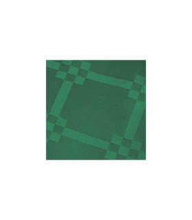 Rollo de mantel de papel damascado IMPERMEABLE de 1,2x5 metros. Verde Bosque. Caja de 35 rollos.