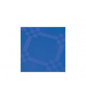 Rollo de mantel de papel damascado IMPERMEABLE de 1,2x5 metros. Azul. Caja de 35 rollos.