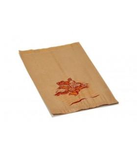 Bolsas de papel kraft para chapata. 18+7x32 cm. Caja de 1.000 uds.