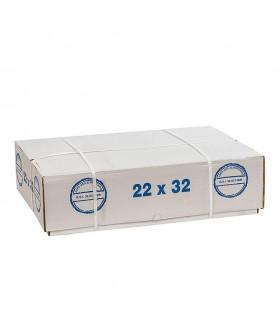 Papel parafinado de 22x32 cm. Fardo de 20 kg.