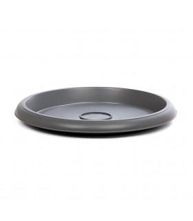 Platos para macetas redondas de 42 cm. de diámetro.  Antracita. 12 platos