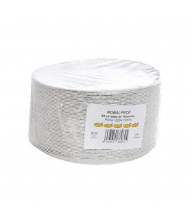 Bandeja aluminio pizza NOBAL Ref. 500 (220x13mm) - Paq 50 envases