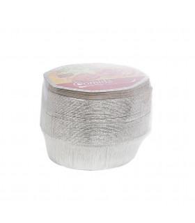 Bandeja aluminio pollo ovalada + tapas NOBAL Ref. NO2600 (256x194x93) - Paq 50 envases