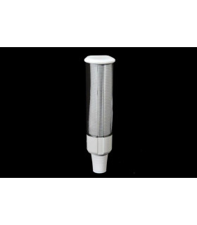 Dispensador para vasos de plástico o flexibles.