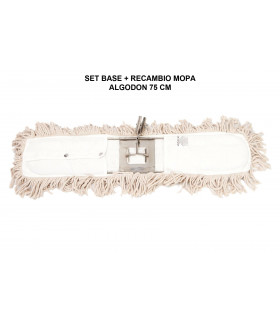 Mopa algodon 75 cms - 1 ud