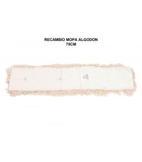 Recambio Mopa algodon 75 cms - 1 ud