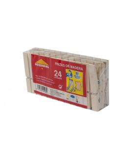 Pinza de madera fuerte - Paquete de 24 uds