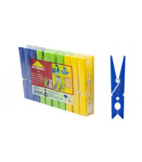 Pinza de plastico gigante colores - Paquete 10 uds