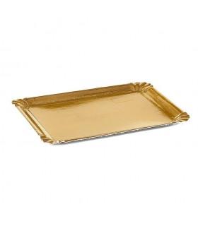 Bandejas de cartón Oro de 18x24 cm 1/2 k. Paquete de 100 uds.