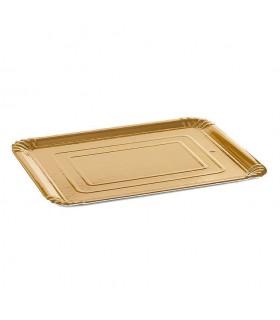 Bandejas de cartón Oro de 24x30 cm 1 kg. Paquete de 100 uds.