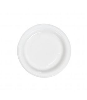 Plato Postre 16,5 cms Blanco ECO -  Paq 25 uds