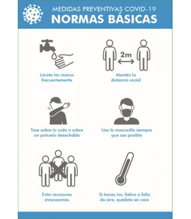 Cartel Normas y Accesos NORMAS BASICAS 42x29,7 cms.