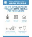 Cartel Normas y Accesos MEDIDAS DE HIGIENE 42x29,7 cms.