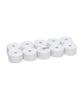 Rollos de papel para caja registradora. 37x70 cm. Paquete de 10 rollos.
