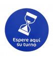 Vinilo Distanciamiento para Suelo Circular Azul 40 cms. - 1 ud.