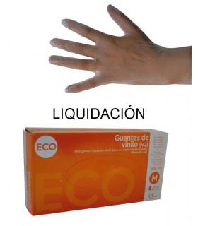Guantes de vinilo -  Talla Mediana - Cajita de 100 uds.