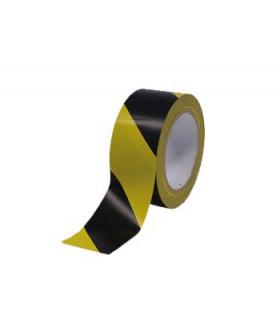 Cinta en rollo adhesiva PVC 5 cm x 33 mts. amarillo/negro - 1 ud *