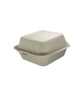 Envase Hamburguesa caña azúcar crema 15x15cm 450ml/15oz - Paquete 25 uds