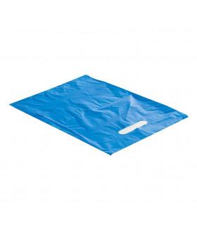 Asa Troquelada 25x35 Azul 50 micras/70% reciclado - Paq 150 uds
