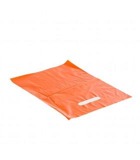 Asa Troquelada 25x35 Naranja 50 micras/70% reciclado - Paq 150 uds