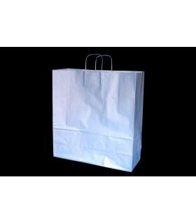 Bolsas de papel con asa retorcida de 45x17x48 cm. Plata. Caja de 150 uds.